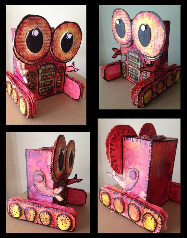 made from recycled paper, cardboard and box
