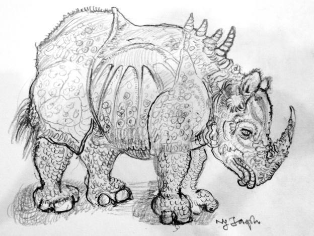 Gesture Drawing: Durer's rhinocerus, 1515