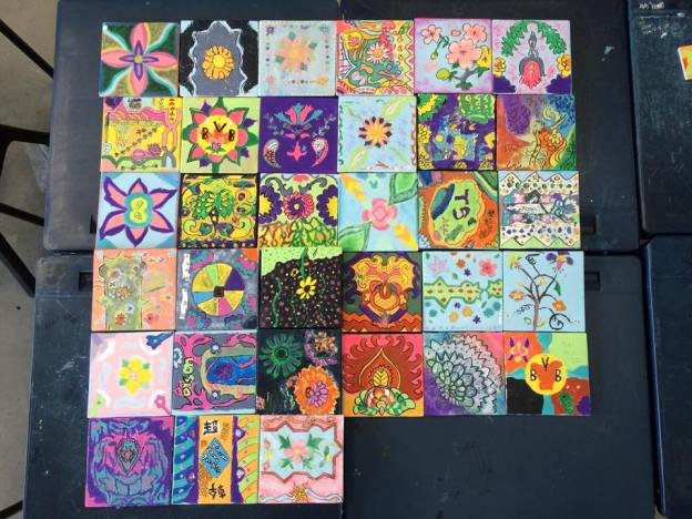 These are 15cm by 15cm ceramic tiles