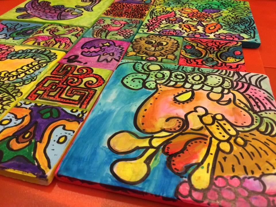 Acrylic Painting On Ceramic Tiles Ngjoseph