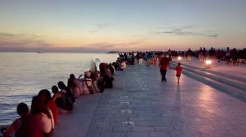 Sunset in Zadar by the Sea Organ