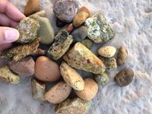 The sea rocks are beautiful I picked a lot of rocks and pebbles from the Adriatic shores in all the various different regions